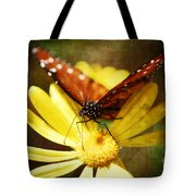 Butterfly On A Daisy  Tote Bag