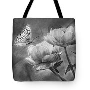 Butterfly On A Flower Tote Bag
