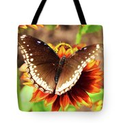 Butterfly On A Sunset Tote Bag