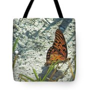 Butterfly On Beach Tote Bag