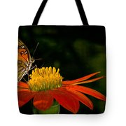 Butterfly On Blossom Tote Bag