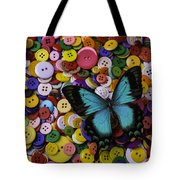 Butterfly On Buttons Tote Bag