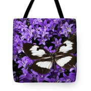 Butterfly On Campanula Get Mee Tote Bag