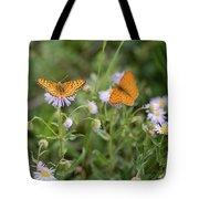Butterfly On Fleabane #2 Tote Bag