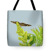 Butterfly On Flower Cluster Tote Bag