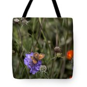 Butterfly On Flower. Tote Bag