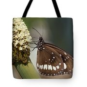 Butterfly On Grass Tree Flowers Tote Bag