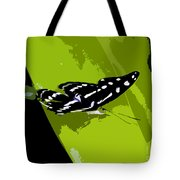 Butterfly On Green Tote Bag