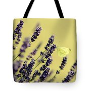 Butterfly On Lavender Flowers Tote Bag