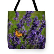 Butterfly On Lavender Tote Bag