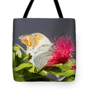 Butterfly On Magenta Flower Tote Bag