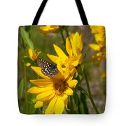 Butterfly On Mule's Ear Tote Bag