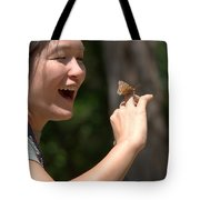 Butterfly On My Hand 2 Tote Bag