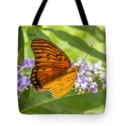 Butterfly On Purple Tote Bag