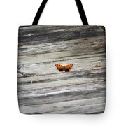Butterfly On The Dock Tote Bag