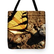 Butterfly On The Rocks Tote Bag