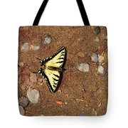 Butterfly On The Sand Two  Tote Bag