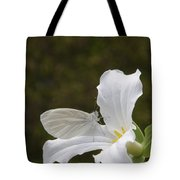 Butterfly On Trillium  Tote Bag