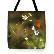 Butterfly On Widflower Tote Bag
