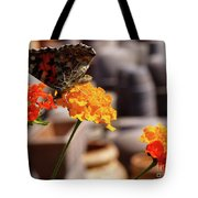 Butterfly On Yellow Flower Tote Bag