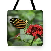 Butterfly Orange And Yellow Tote Bag
