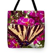 Swallowtail Butterfly Pink Tote Bag