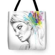 Butterfly Queen Tote Bag by Olga Shvartsur