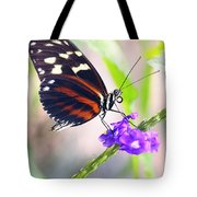 Butterfly Side Profile Tote Bag by Garvin Hunter