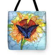 Butterfly Sunday After The Rain Tote Bag
