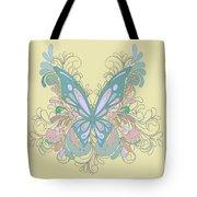 Butterfly Swirls Tote Bag
