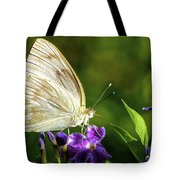 Butterfly Tea Time Tote Bag