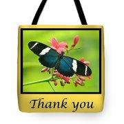 Butterfly Thank You Card Tote Bag