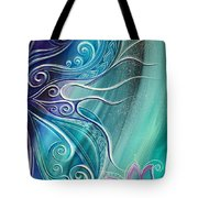 Butterfly Wing With Lotus Tote Bag