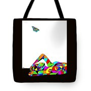Butterfly With A Nude Tote Bag