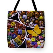 Butterfly With Bowls Tote Bag