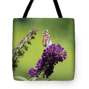 Butterfly With Flowers Tote Bag