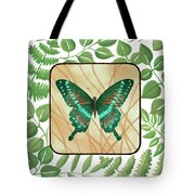 Butterfly With Leaves 2 Tote Bag