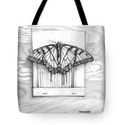 Butterfly With Matchbook Tote Bag