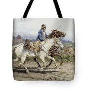 Buttero Riding In The Roman Campagna Tote Bag