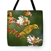 Buttery Yellow Warbler Tote Bag