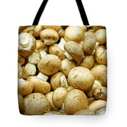 Button Mushrooms Tote Bag
