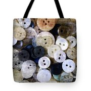 Buttons In Grunge Style Tote Bag