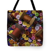 Buttons With Thread Tote Bag