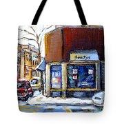 Buy Original Montreal Paintings Beauty's Winter Scenes For Sale Achetez Petits Formats Tableaux  Tote Bag