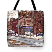 Buy Original Paintings Montreal Petits Formats A Vendre Scenes De Pointe St Charles Cspandau Artist Tote Bag