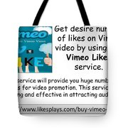 Buy Vimeo Likes Tote Bag