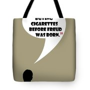 Buying Cigarettes - Mad Men Poster Don Draper Quote Tote Bag