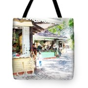 Buying Items In These Shops On The Street Tote Bag
