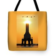 Buzzing The Tower Tote Bag