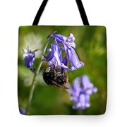 Buzzy Bee On Bluebells Tote Bag